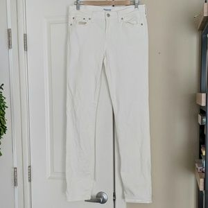 Madewell straight leg white jeans
